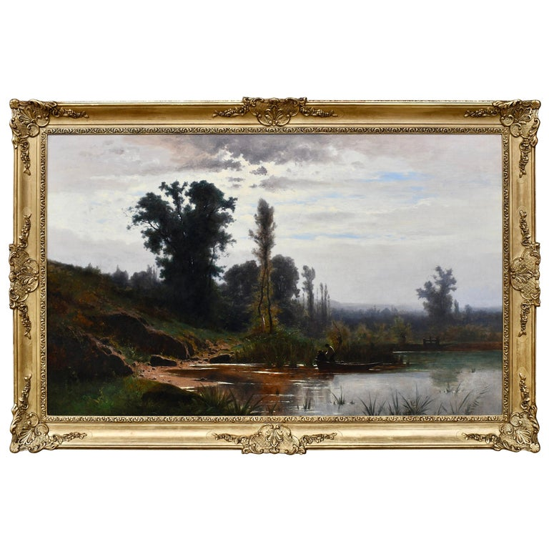 """""""On the Banks of the River"""" by Gustave Castan For Sale"""