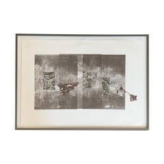 'On the Line' Monoprint Lithograph by Laurie Carnohan, 2013