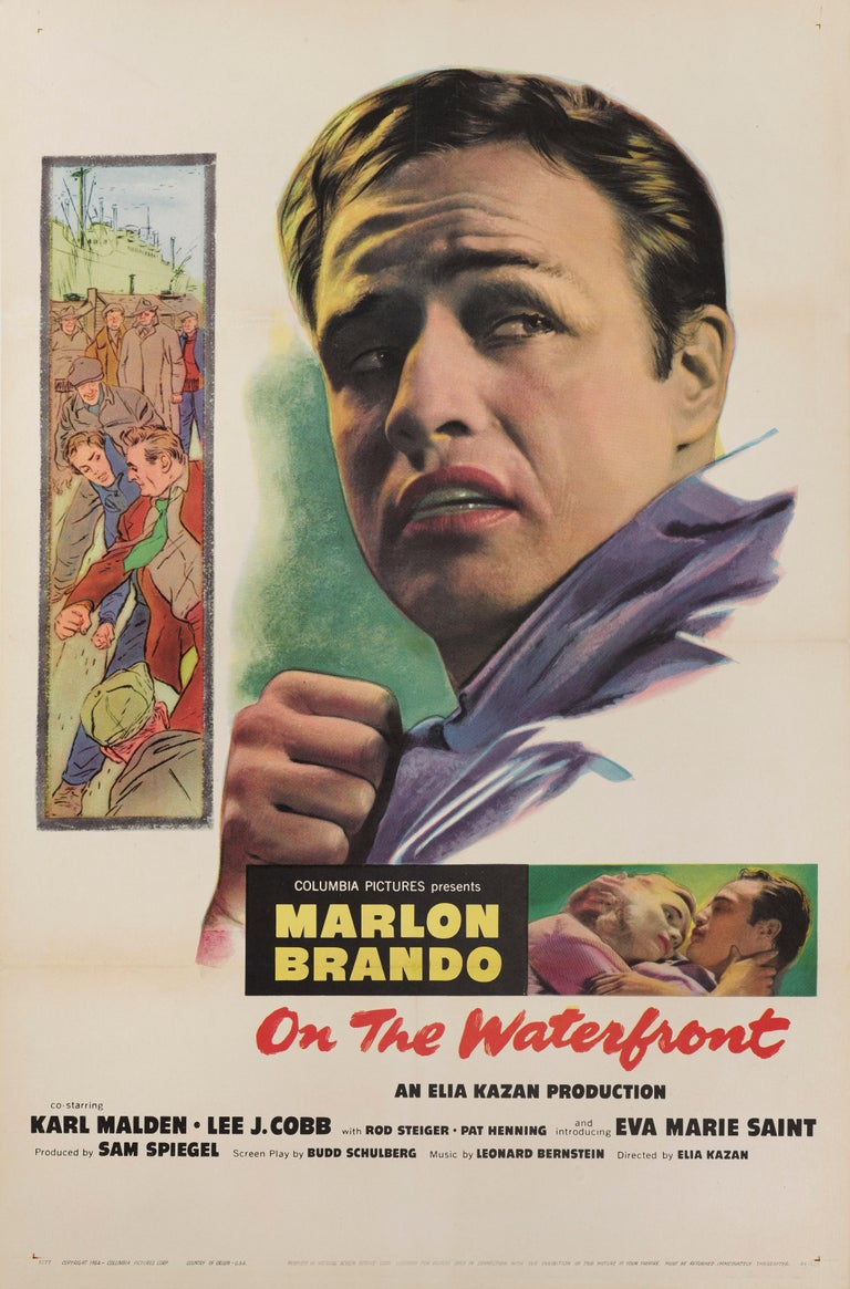 Original US film poster from (1954) 41 x 27 in. (104 x 69 cm) This poster would have been used outside the cinema at the films original release. This is a Classic American crime drama it received 12 Academy Award nominations, winning eight,
