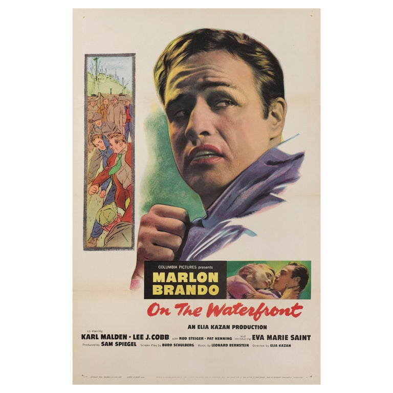 """""""On the Waterfront"""" Film Poster For Sale"""