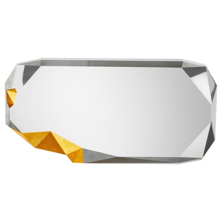 Once Upon a Time Mirror #6 Stainless Steel and Gold Customizable In New Condition For Sale In Beverly Hills, CA