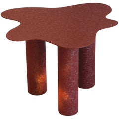 Onda Contemporary Side Table in Metal by Federica Elmo