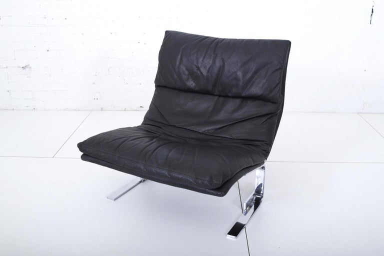 Post-Modern Onda Lounge Chair by Giovanni Offredi for Saporiti, Italy, 1970s For Sale