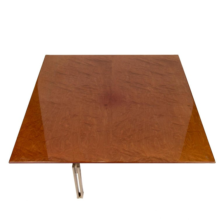 """Brushed """"Onda"""" Low Table by Giovanni Ofrredi for Saporiti For Sale"""