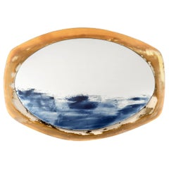 ONDA, Oval Custom Handmade Color Mirror One of a Kind
