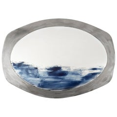 Onda, Oval Custom Handmade Color Mirror. One of a Kind