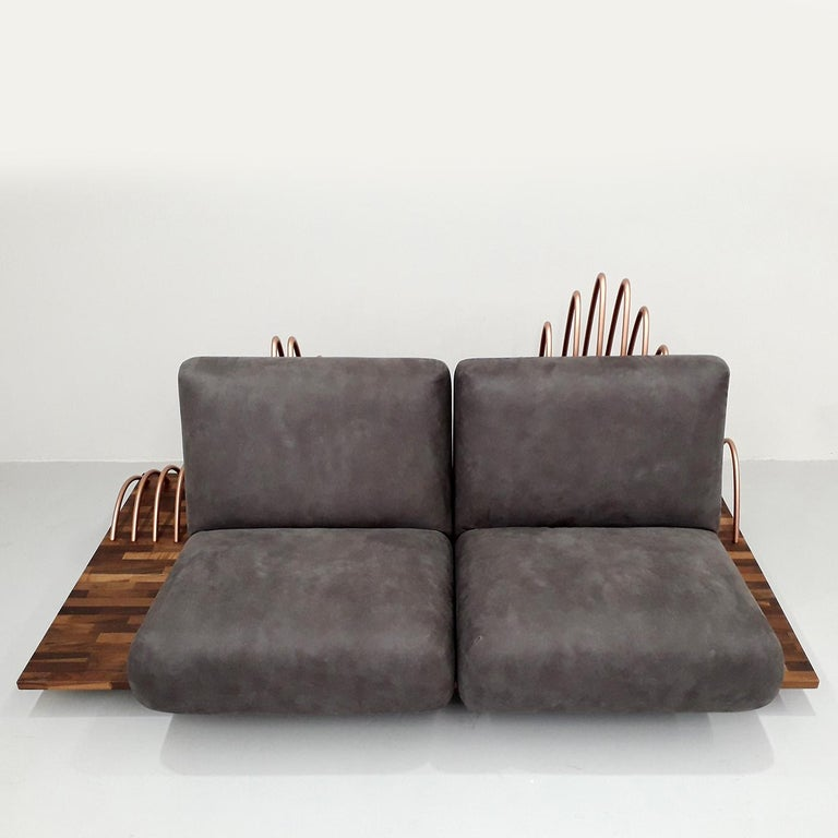 Hand-Crafted Onda Sofa For Sale