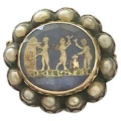 "One '1' Gold/Silver Memorial Ornament/Brooch ""Stuart Cristal"", England, 1690"