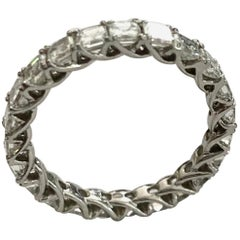 """One '1' Platinum """"Alliance"""" Ring, Set with Asscher Cut Diamonds, 23x"""