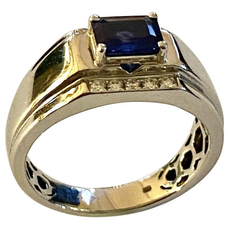 One 18 Karat White Gold Sapphire/Diamond Ring For Sale