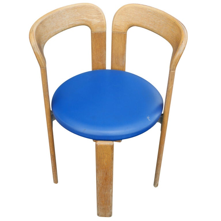 Mid-Century Modern One Bruno Rey for Stendig Stacking Chair For Sale