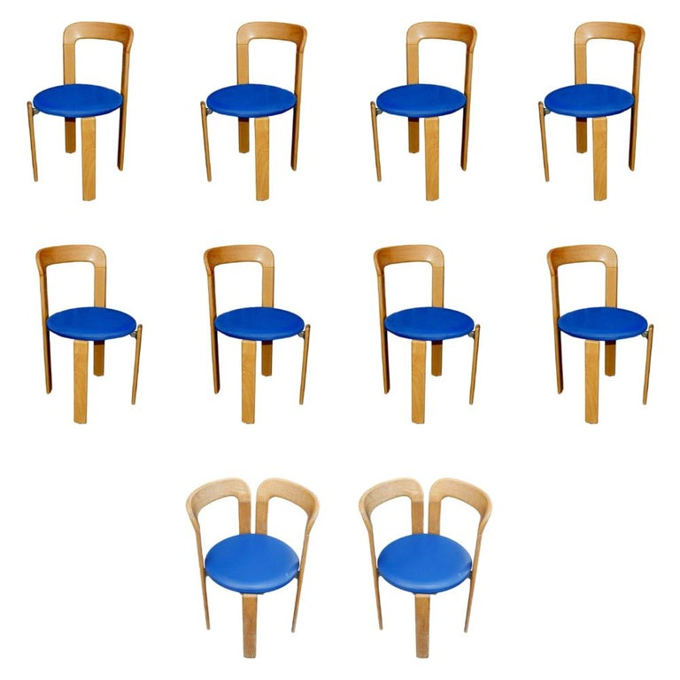 One Bruno Rey for Stendig Stacking Chair For Sale