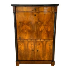 One-Doored Biedermeier Armoire, Walnut Veneer, South Germany, circa 1820