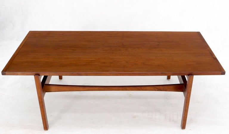 One Drawer Rectangle Shape Teak Danish Mid-Century Modern Coffee Table For Sale 10