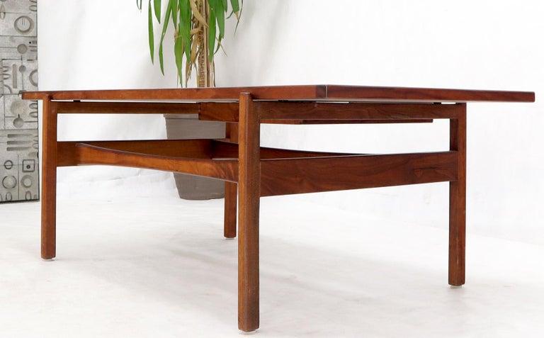 One Drawer Rectangle Shape Teak Danish Mid-Century Modern Coffee Table For Sale 11