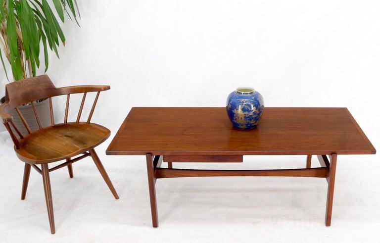Danish Mid-Century Modern one drawer coffee table.