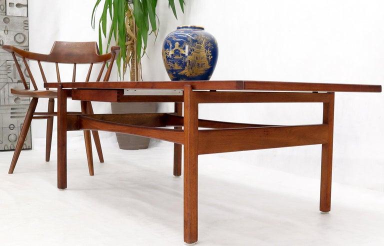 20th Century One Drawer Rectangle Shape Teak Danish Mid-Century Modern Coffee Table For Sale