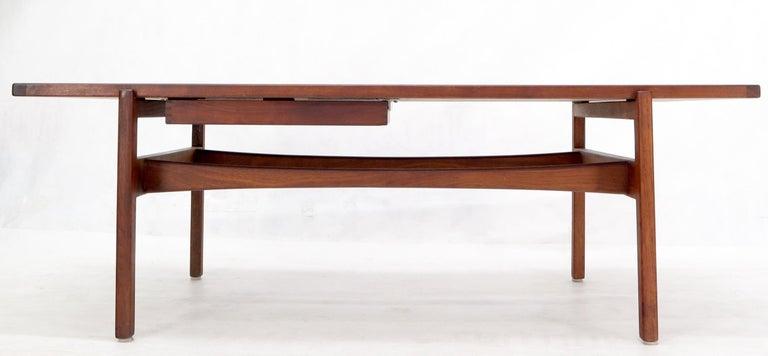 One Drawer Rectangle Shape Teak Danish Mid-Century Modern Coffee Table For Sale 1