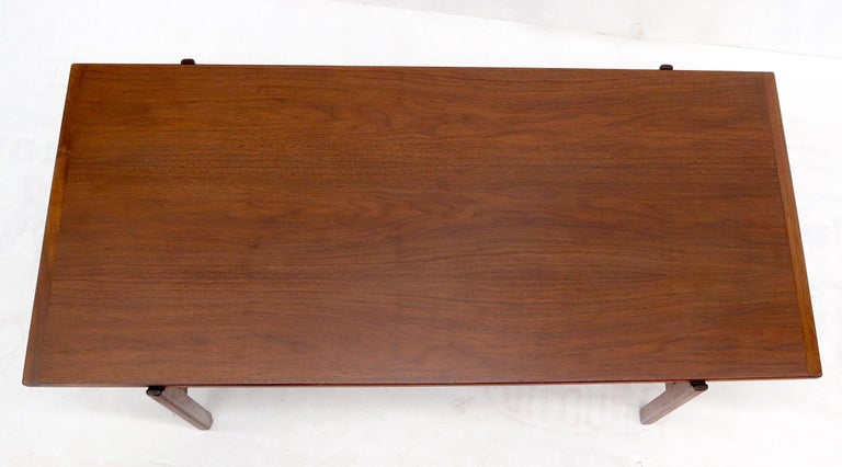 One Drawer Rectangle Shape Teak Danish Mid-Century Modern Coffee Table For Sale 2