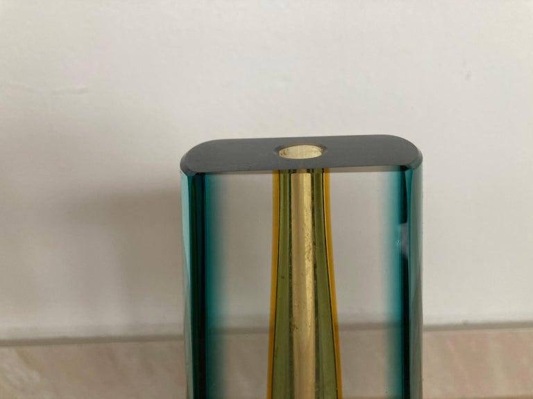 Mid-Century Modern One Flower Mid century Glass Vase by Pavel Hlava, 1970s