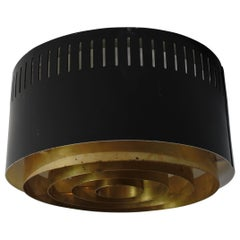 One Flush Mount Ceiling Lamp by Itsu, Finland, 1960s
