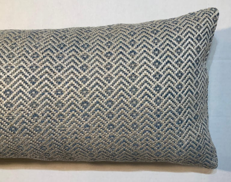 Elegant pillow made of fine quality vintage French textile, fresh insert.
