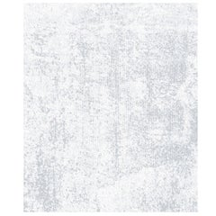 One Grey - Plain Beautiful Hand Knotted Wool Tencel Rug