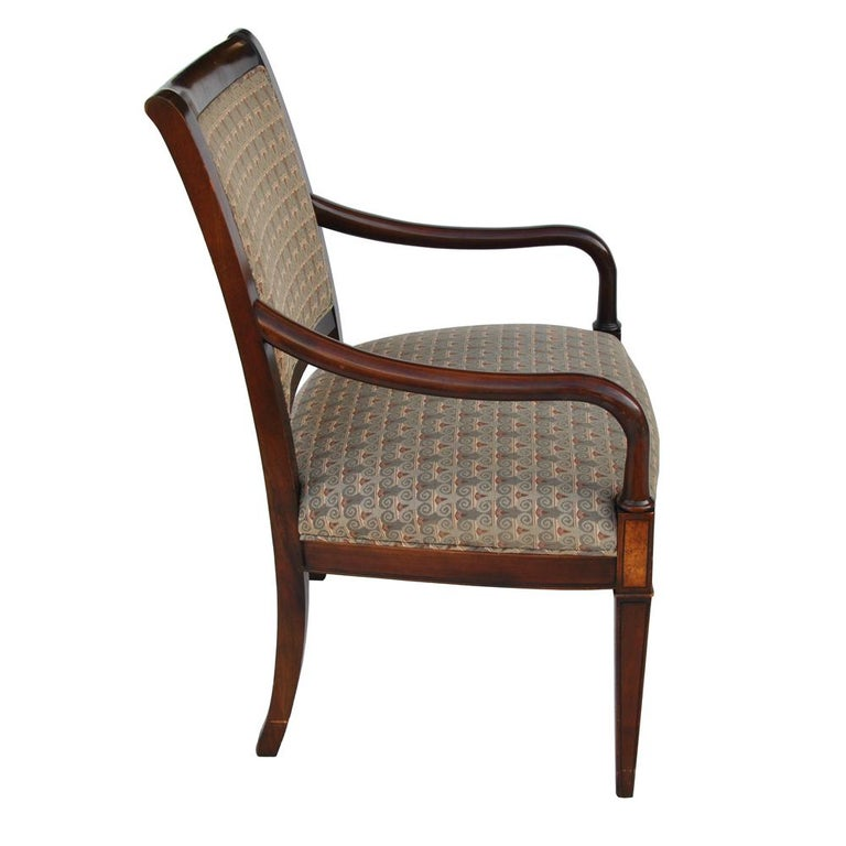 Regency Revival One Hickory Furniture Traditional Arm Dining Side Chair For Sale