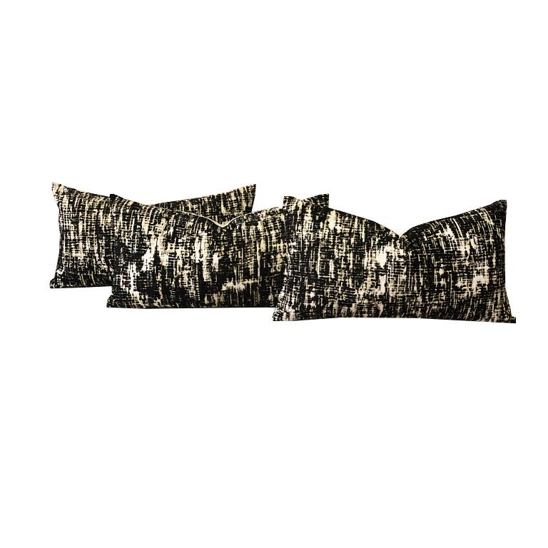 Hollywood Regency One Kelly Wearstler Lumbar Down Fill Pillow in Whisk Shadow Custom Options For Sale