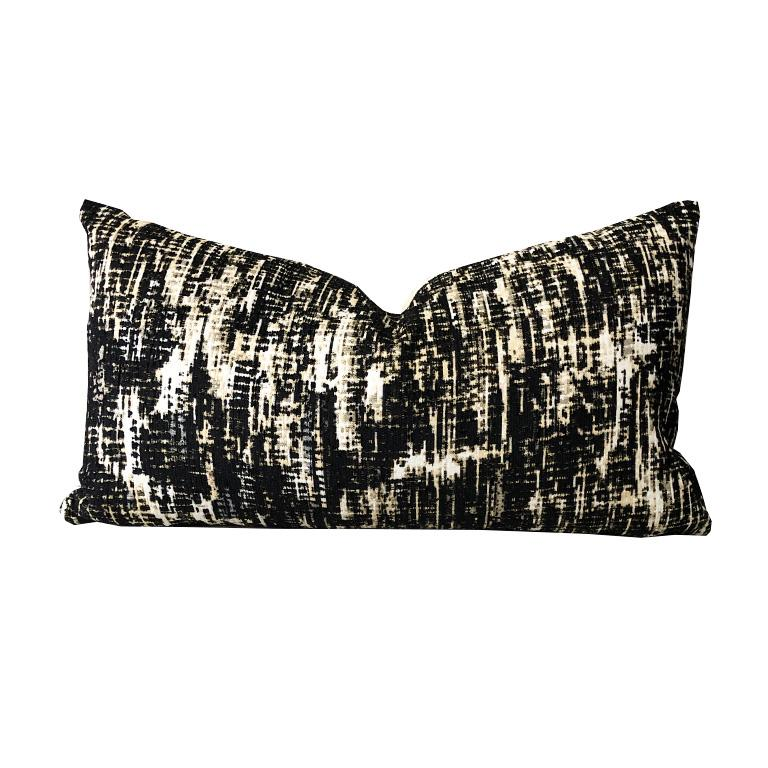 One Kelly Wearstler Lumbar Down Fill Pillow in Whisk Shadow Custom Options For Sale