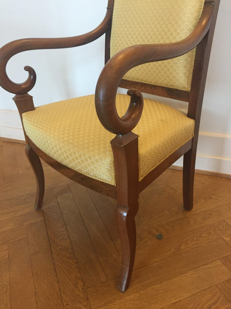 Louis Philippe One Mahogany French Louis Phillipe Desk or Living Room Armchair For Sale
