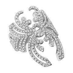 """One Messika """"Beetle"""" Diamond Ring in 18 Karat White Gold"""