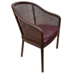 One Midcentury Ward Bennett Landmark Cane Armchair for Brickel and Associates
