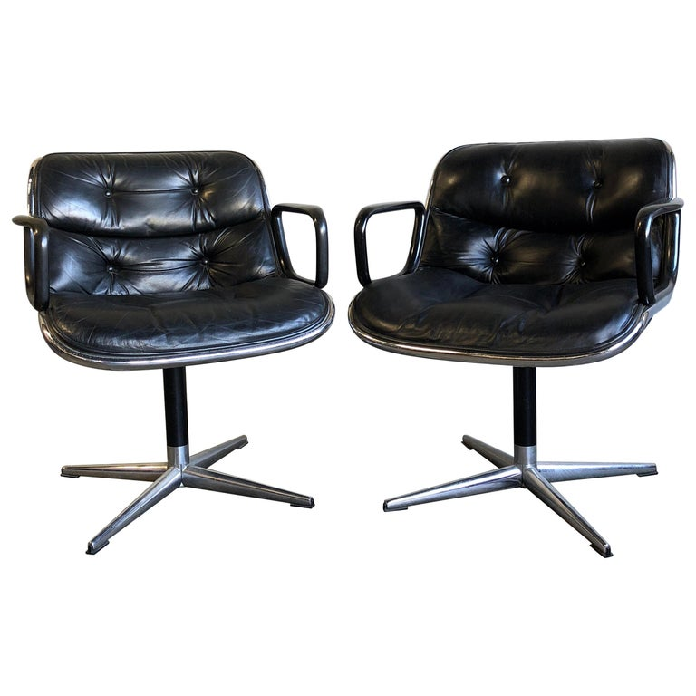 One Midcentury First Generation Pollock Chair for Knoll For Sale
