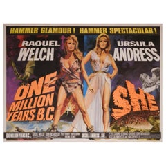 One Million Years B.C. / She '1968' Poster