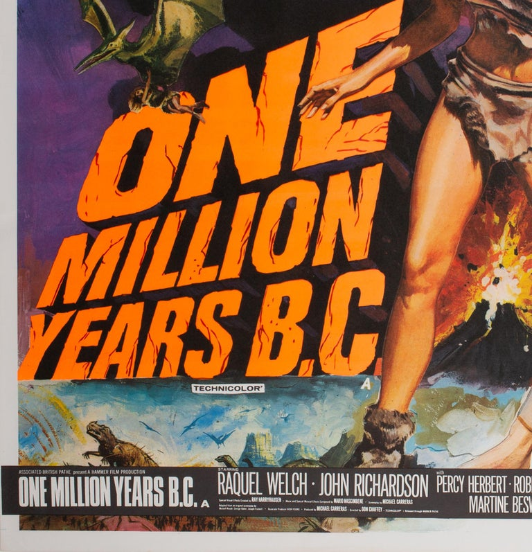 20th Century One Million Years B.C/She Double 1968 Bill UK Quad Film Movie Poster, Chantrell For Sale