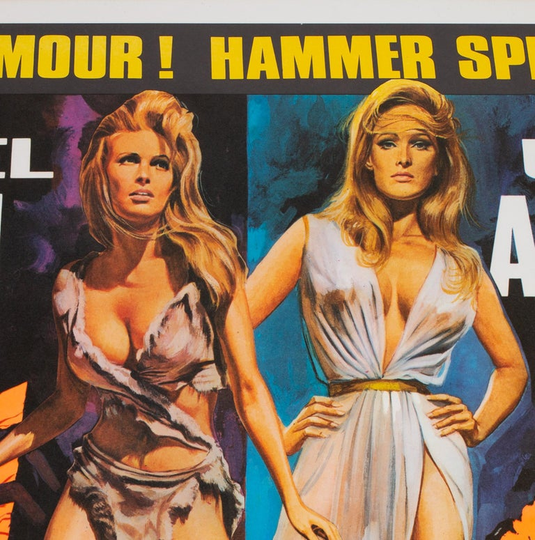 One Million Years B.C/She Double 1968 Bill UK Quad Film Movie Poster, Chantrell For Sale 1