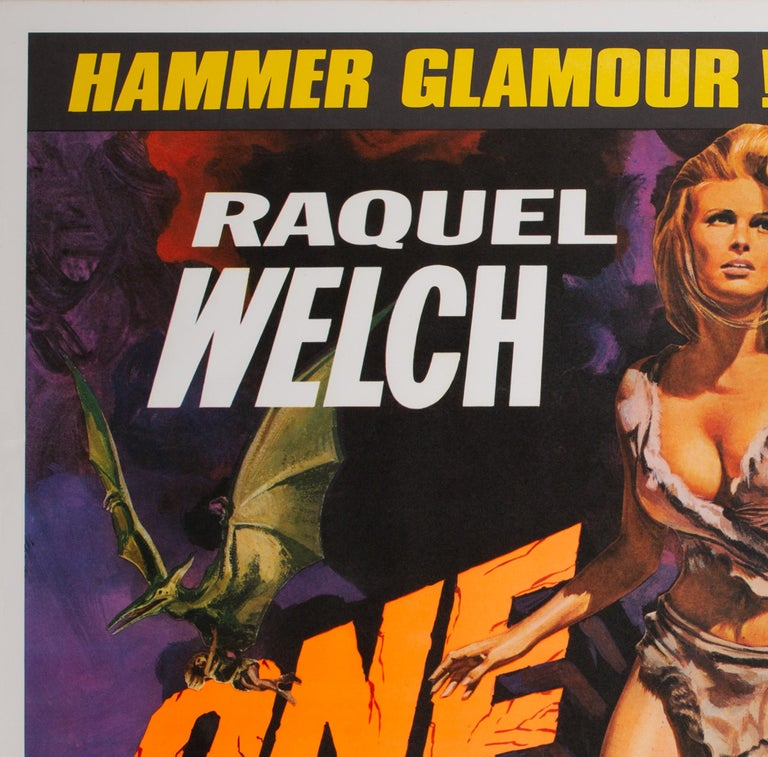 One Million Years B.C/She Double 1968 Bill UK Quad Film Movie Poster, Chantrell For Sale 2