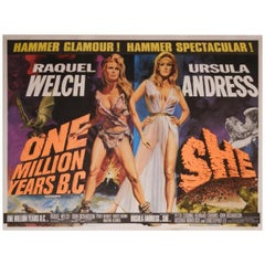 One Million Years B.c. / She Poster