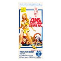 'One Million Years B.C.' Vintage Australian Daybill Movie Poster, 1966