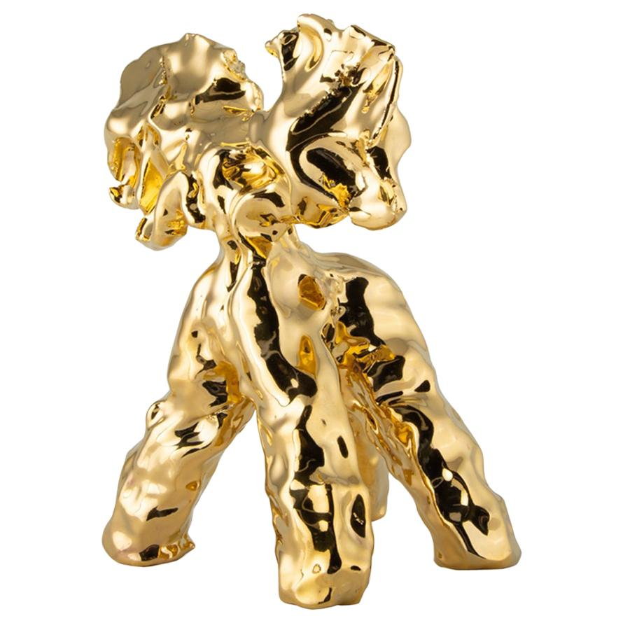One Minute Sculpture, by Marcel Wanders, Hand-Sculpted Unique, Gold, #102837/10