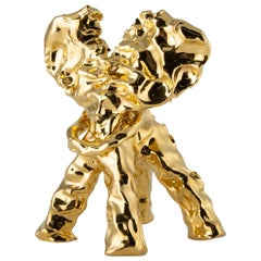 One Minute Sculpture, by Marcel Wanders, Hand-Sculpted Unique, Gold, #102837/2