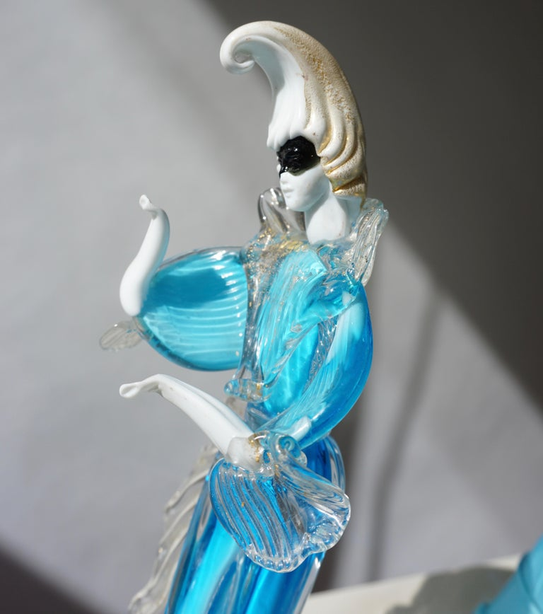 One Murano Glass Carnival Lady Dancer For Sale 4