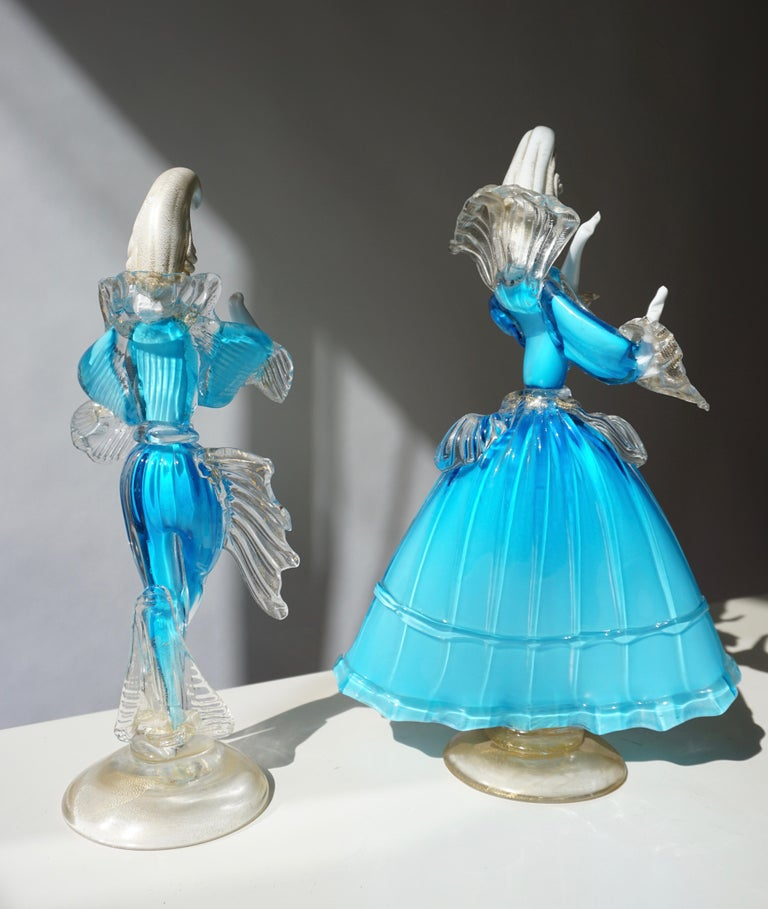 One Murano Glass Carnival Lady Dancer For Sale 6