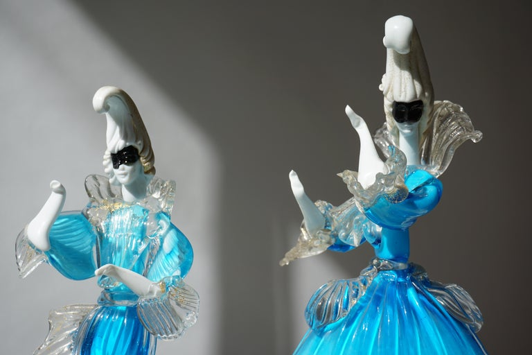 One Murano Glass Carnival Lady Dancer For Sale 7