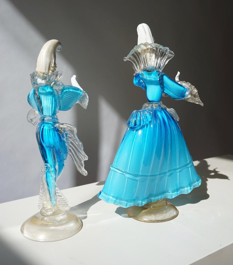 One Murano Glass Carnival Lady Dancer For Sale 9