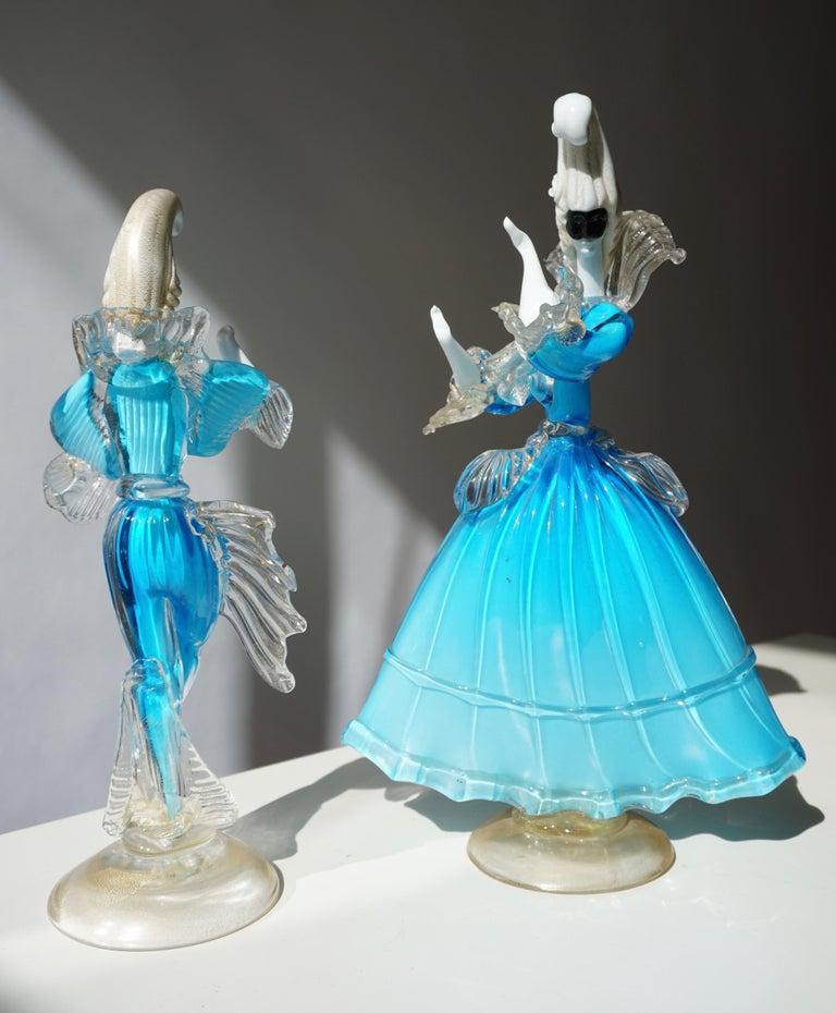 Italian One Murano Glass Carnival Lady Dancer For Sale