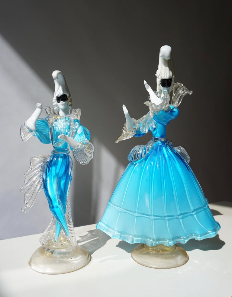 20th Century One Murano Glass Carnival Lady Dancer For Sale