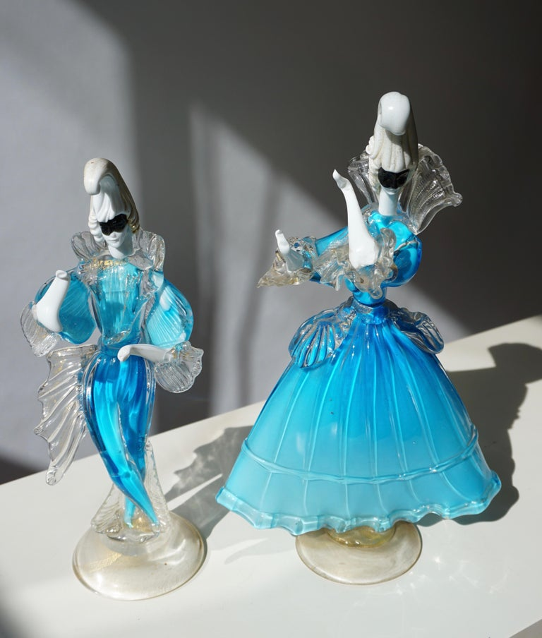 One Murano Glass Carnival Lady Dancer For Sale 1