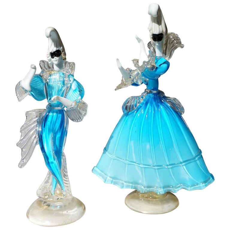 One Murano Glass Carnival Lady Dancer For Sale